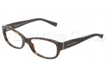 Dolce&Gabbana DG3125 Progressive Prescription Eyeglasses 502-5516 - Havana Frame