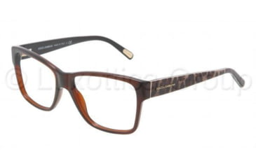 Dolce&Gabbana DG3126 Bifocal Prescription Eyeglasses 1830-5215 - Brown Frame