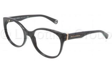 Dolce&Gabbana DG3128 Single Vision Prescription Eyeglasses 501-5118 - Black Frame