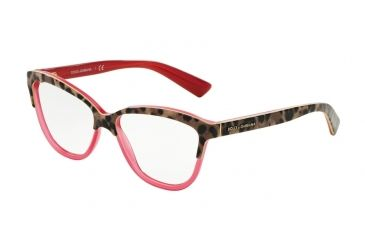 f523700bfb1b Dolce&Gabbana DG3229 Eyeglass Frames 2949-54 - Top Animalier On Raspberry  Frame