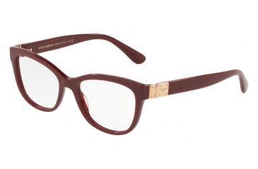 26e1bc5f636 Dolce Gabbana DG3290 Eyeglass Frames 3091-54 - Bordeaux Frame