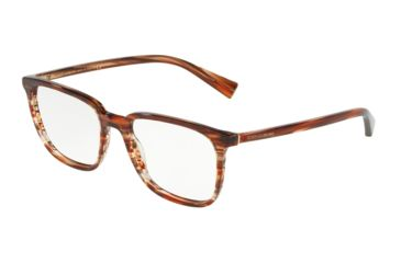 14c27367d148b7 Dolce Gabbana DG3298 Eyeglass Frames 3189-51 - Striped Orange Frame