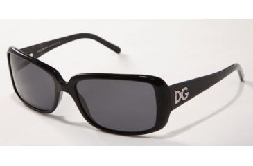 Dolce & Gabanna DG4013B #501/87 - Shiny Black Frame, Gray Lenses