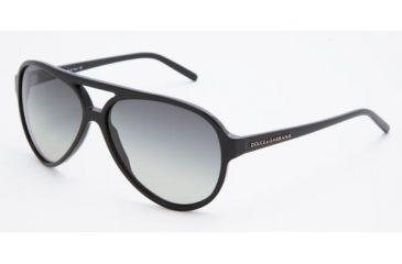 Dolce & Gabanna DG4016 #501/8G - Black Frame, Gray Gradient Lenses