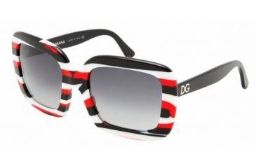 Dolce & Gabanna DG4035 #841/8G - Red Striped Gray Gradient Frame