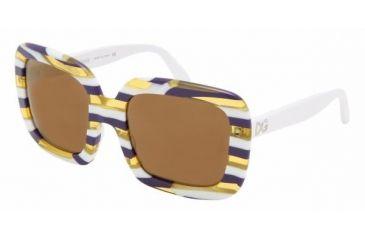 Dolce & Gabanna DG4035 #842/F9 - Violet Striped Brown Mirror Bronze Frame