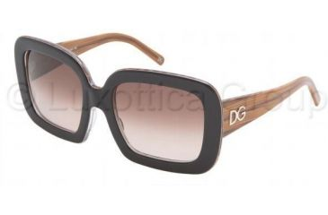 Dolce & Gabbana DG4047 Sunglasses 902/13-5420 - Black Animal Print Brown Gradient