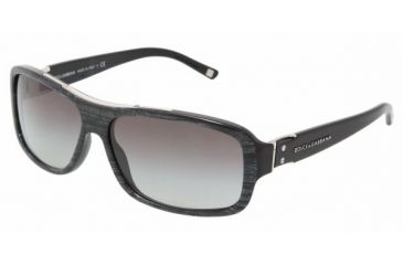 Dolce & Gabanna DG4071 #16158G - Pearl Black On Black Gray Gradient Frame