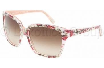 Dolce&Gabbana DG4077M Single Vision Prescription Sunglasses DG4077M-179013-5817 - Lens Diameter 58 mm, Frame Color Ext Flower/Int Pink