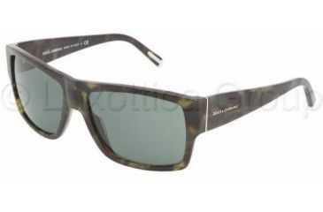 Dolce&Gabbana DG4105 Single Vision Prescription Sunglasses DG4105-173571-5916 - Lens Diameter 59 mm, Frame Color Green Havana