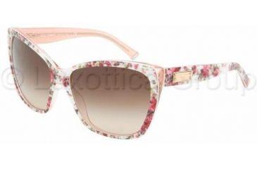 Dolce & Gabbana DG4111 Sunglasses 179013-5915 - Ext Flower/Int Pink Brown Gradient