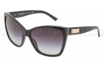 Dolce&Gabbana DG4111 Progressive Prescription Sunglasses DG4111-501-8G-5915 - Frame Color Black, Lens Diameter 59 mm
