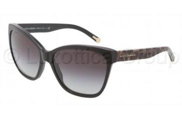 Dolce&Gabbana DG4114 Sunglasses 25258G-5915 - Black Frame, Gray Gradient Lenses
