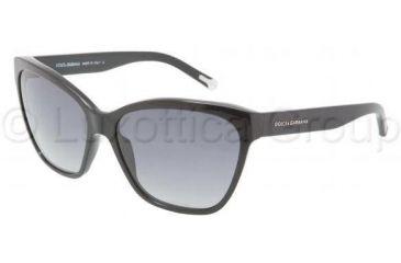 Dolce&Gabbana DG4114 Bifocal Prescription Sunglasses DG4114-501-8G-5915 - Frame Color Black, Lens Diameter 59 mm