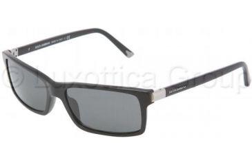 Dolce&Gabbana DG4122 Bifocal Prescription Sunglasses DG4122-501-87-5716 - Lens Diameter 57 mm, Frame Color Shiny Black