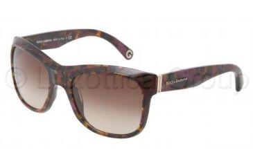 Dolce&Gabbana DG4129 Sunglasses 195968-5520 - Violet Frame, Brown Gradient Violet Lenses