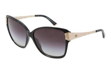 Dolce&Gabbana DG4131 Sunglasses 19638G-5915 - Black Marble Frame, Gray Gradient Lenses
