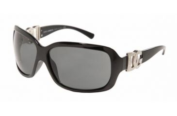 Dolce & Gabanna DG6029B #501/87 - Shiny Black Frame, Gray Lenses