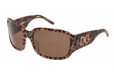 Dolce & Gabanna DG6038B #739/73 - Animal Print Transparent Brown Frame