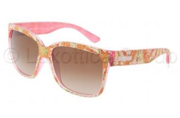 Dolce&Gabbana DG6063 Sunglasses 250613-5816 - Sicilian Carretto Pink Frame, Brown Gradient Lenses