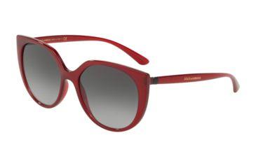 680809f1e2cb Dolce&Gabbana DG6119 Sunglasses 15518G-54 - Women's, Transparent Bordeaux  Frame, Grey Gradient Lenses