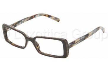 Dolce&Gabbana DG 3054 Eyeglasses Styles - Green Spotted Frame w/Non-Rx 52 mm Diameter Lenses, 771-5216