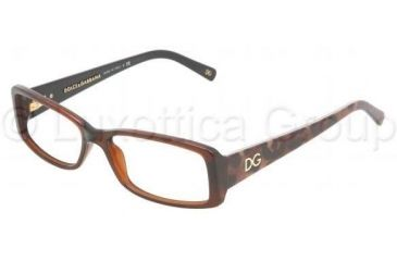 Dolce&Gabbana Eyeglasses DG3076 with No-Line Progressive Rx Prescription Lenses 1830-5315 - Brown