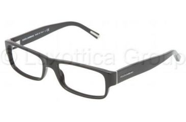 Dolce&Gabbana Eyeglasses DG3104 with No-Line Progressive Rx Prescription Lenses 501-5316 - Black