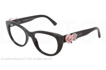 Dolce&Gabbana FLOWERS DG3163 Eyeglass Frames 501-50 - Black Frame