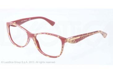 Dolce&Gabbana GOLD LEAF DG3174 Eyeglass Frames 2748-52 - Leaf Gold On Red Frame