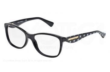 Dolce&Gabbana GOLD LEAF DG3174 Eyeglass Frames 2877-52 - Black Frame