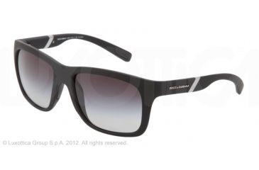 Dolce&Gabbana GYM DG6072 Prescription Sunglasses DG6072-2616T3-56 - Lens Diameter 56 mm, Lens Diameter 56 mm, Frame Color Black