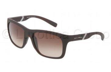 Dolce&Gabbana GYM DG6072 Single Vision Prescription Sunglasses DG6072-262013-5618 - Lens Diameter 56 mm, Frame Color Brown