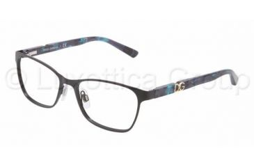 Dolce&Gabbana ICONIC LOGO DG1244P Bifocal Prescription Eyeglasses 1225-5116 - Black Frame