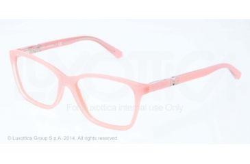 Dolce&Gabbana ICONIC LOGO DG3153P Progressive Prescription Eyeglasses 2774-52 - Top Crystal On Pearl Pink Frame