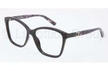 Dolce&Gabbana ICONIC LOGO DG3160P Progressive Prescription Eyeglasses 2688-5716 - Dark Steel Frame