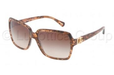 Dolce&Gabbana ICONIC LOGO DG4164P Sunglasses 255013-5816 - Brown Marble Frame, Brown Gradient Lenses
