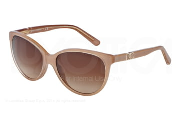 Dolce&Gabbana ICONIC LOGO DG4171P Sunglasses 277313-56 - Top Crystal On Pearl Sand Frame, Brown Gradient Lenses