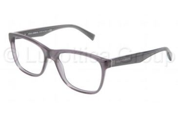 Dolce&Gabbana INTEGRATED FLEX HINGE DG3144 Single Vision Prescription Eyeglasses 1861-5317 - Transparent Gray Frame