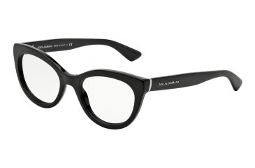 6df83649137 Dolce Gabbana LACE DG3197 Eyeglass Frames 501-53 - Black Frame