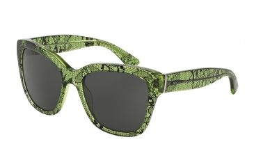 db767f8597a Dolce Gabbana LACE DG4226 Sunglasses 297587-56 - Chantilly Lace tr Green  Frame