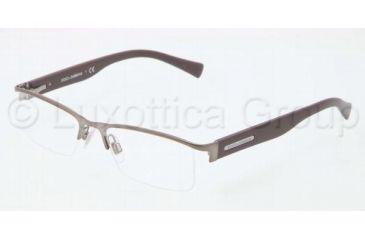 Dolce&Gabbana LIFESTYLE DG1239 Single Vision Prescription Eyeglasses 1175-5117 - Gunmetal Frame