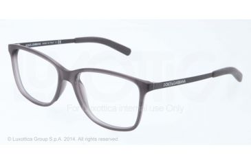 Dolce&Gabbana LIFESTYLE DG5006 Bifocal Prescription Eyeglasses 2651-54 - Demi Transparent Grey Rubber Frame