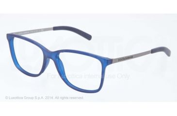 Dolce&Gabbana LIFESTYLE DG5006 Bifocal Prescription Eyeglasses 2692-54 - Demi Transparent Blue Rubber Frame