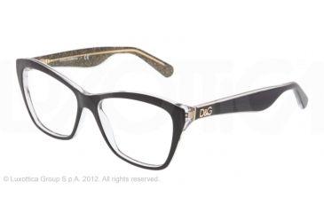 Dolce&Gabbana LIP GLOSS DG3167 Eyeglass Frames 2737-52 - Black/glitter Gold Frame