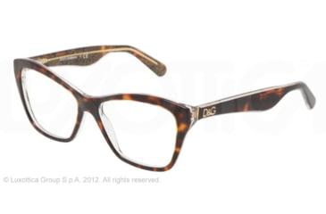 Dolce&Gabbana LIP GLOSS DG3167 Eyeglass Frames 2738-52 - Havana/glitter Gold Frame