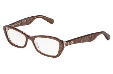 21223b5a4a6 Dolce Gabbana LIP GLOSS DG3168 Eyeglass Frames 2743-53 - Glitter Brown Frame