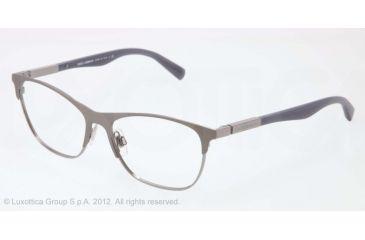 b90b9c6a43c Dolce Gabbana LIPSTICK DG1246 Single Vision Prescription Eyeglasses 1221-53  - Matte Gunmt gumetal Frame