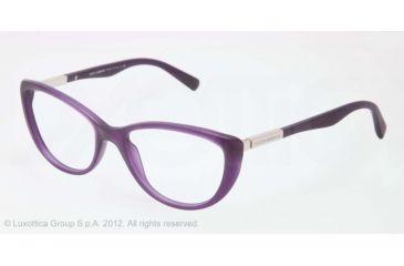 Dolce&Gabbana LIPSTICK DG3155 Bifocal Prescription Eyeglasses 2701-52 - Matte Opal Violet Frame, Demo Lens Lenses