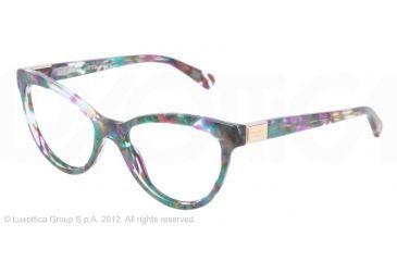 Dolce&Gabbana LOGO PLAQUE DG3169 Eyeglass Frames 2731-51 - Violet Green Marble Frame